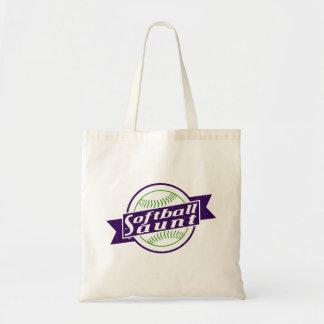 Softball Aunt Grocery Bag