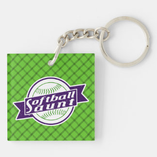 Softball Aunt Keyring