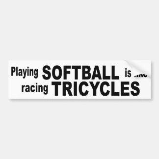 Softball Bumper Sticker