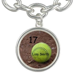 Softball Charm Bracelet