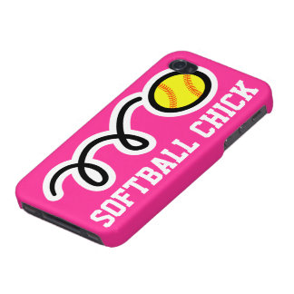 Softball chick iPhone case | Pink phone cover Cover For iPhone 4