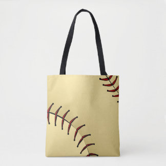 Softball Closeup Graphic Tote Bag
