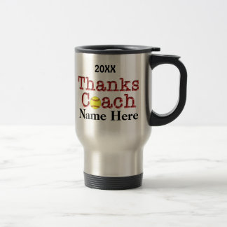 Softball Coach Gift Ideas COACH NAME & YEAR MUG