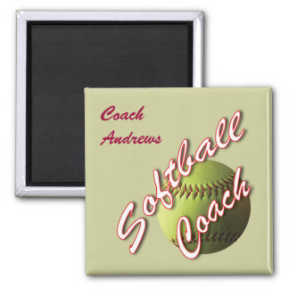 Softball Coach Name Magnet