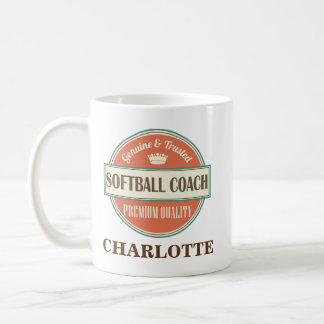 Softball Coach Personalized Office Mug Gift