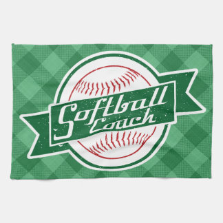 Softball Coach Tea Towel