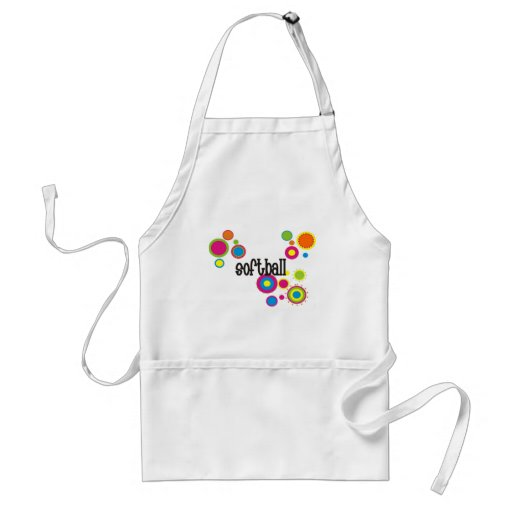 Softball Cool Polka Dots Aprons