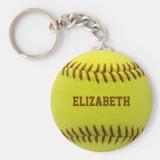 Softball Custom Ball Keychain
