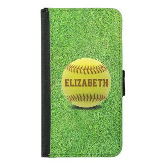 Softball Custom Ball Wallet Phone Case