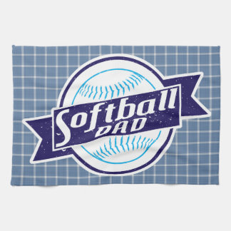 Softball Dad Tea Towel