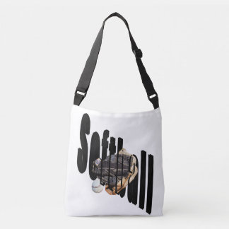Softball Dimensional Logo Full Print Crossbody Bag