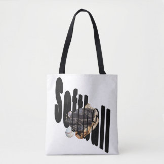 Softball Dimensional Logo Full Print Shopping Bag