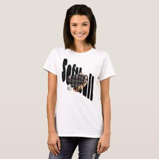 Softball Dimensional Logo Ladies White T-shirt