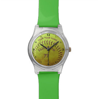 Softball Dirty Name Team Number Ball Watches