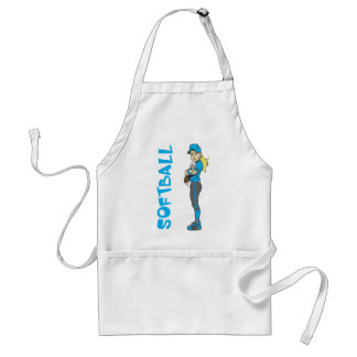 SOFTBALL GIRL PITCHER TEXT STANDARD APRON