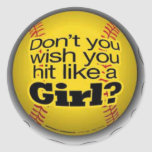 softball-girls stickers