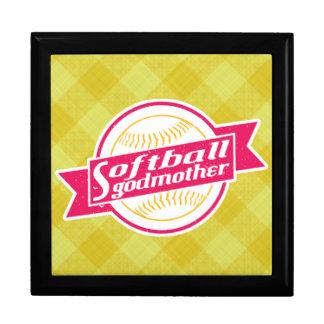 Softball Godmother Keepsake Box