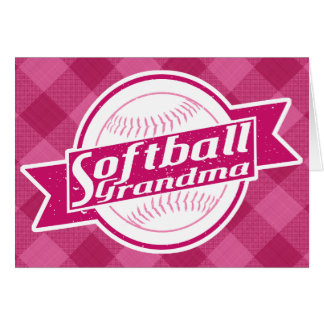 Softball Grandma Greeting Card