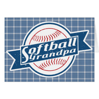 Softball Grandpa Card
