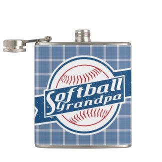 Softball Grandpa Stainless Steel Hip Flask