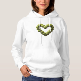 Softball Heart Twisted Softballs Hoodie