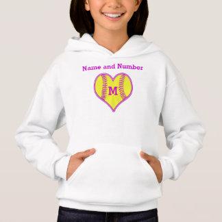 Softball Hoodies for Girls with NAME and MONOGRAM