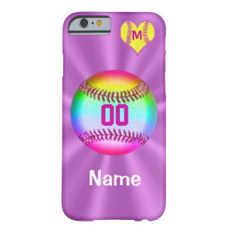 Softball iPhone 6 Cases Your Name Number Monogram