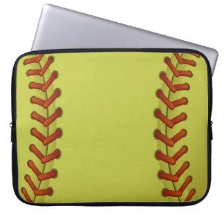Softball is fun laptop computer sleeves