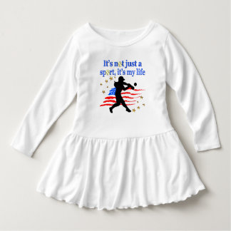 SOFTBALL IS MY LIFE USA PATRIOTIC DESIGN DRESS