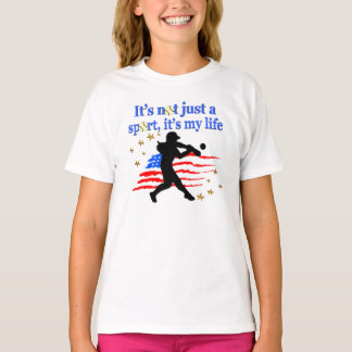 SOFTBALL IS MY LIFE USA PATRIOTIC DESIGN T-Shirt