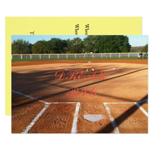 Softball life card