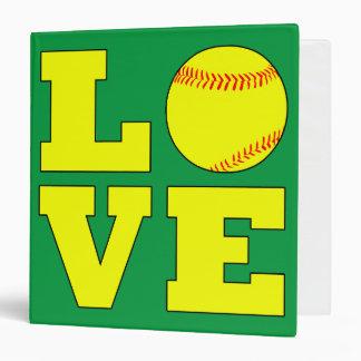 Softball Love Customizable Three Ring Binder