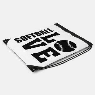 Softball Love, Softball Drawstring Bag