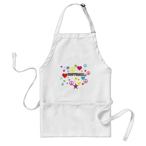 Softball Mixed Graphics Apron