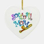 Softball Mom Christmas Tree Ornament