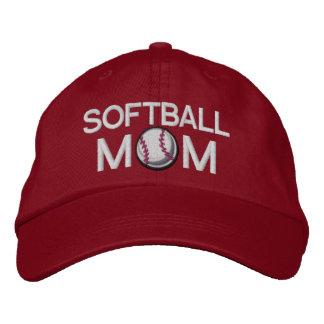 Softball Mom Embroidered Hats