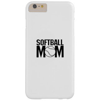 Softball mom Funny Gift  for Women Barely There iPhone 6 Plus Case