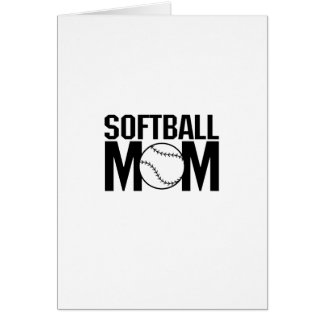 Softball mom Funny Gift  for Women Card