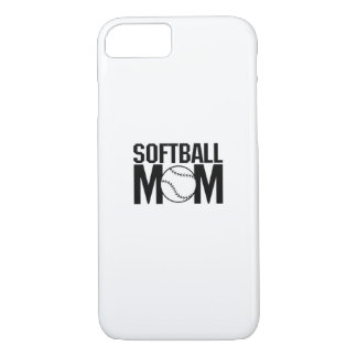 Softball mom Funny Gift  for Women iPhone 8/7 Case