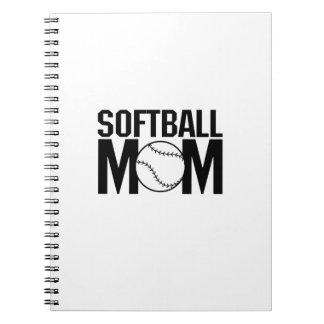 Softball mom Funny Gift  for Women Notebook