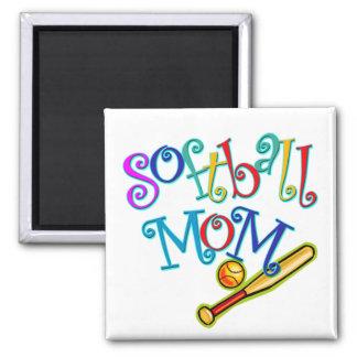 Softball Mom Fridge Magnets