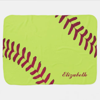Softball Name Personalized Baby Blanket