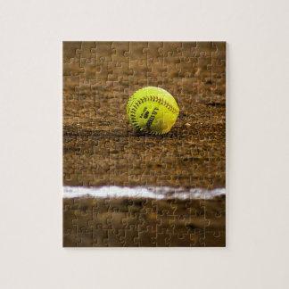 Softball on Ground Jigsaw Puzzle