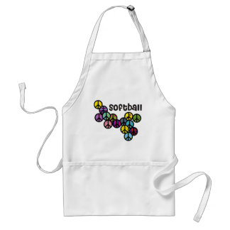 Softball Peace Signs Filled Standard Apron