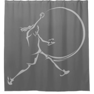Softball Shower Curtains