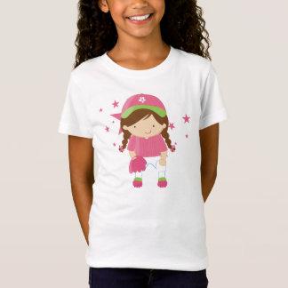 Softball player and stars girl's shirt