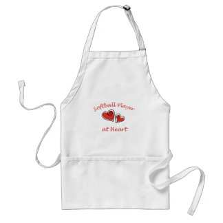 Softball Player at Heart Aprons