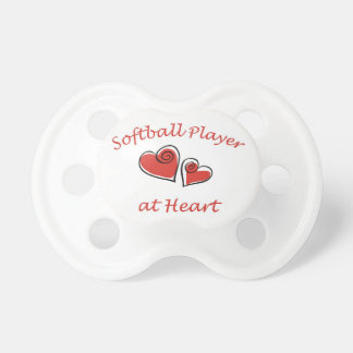 Softball Player at Heart Pacifier