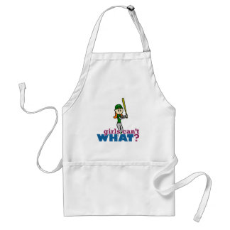 Softball Player Girl in Green Standard Apron