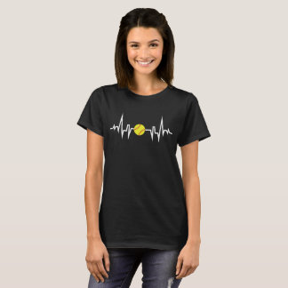 Softball Player Heartbeat EKG T-Shirt